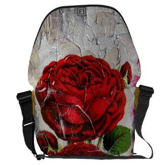 Red Roses Flower Garden Courier Bag