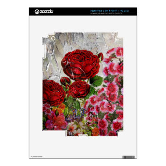 Red Roses Flower Garden Decals For iPad 3