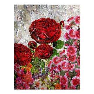 Red Roses Flower Garden Letterhead