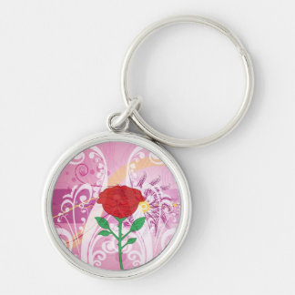 Red Roses Flower Pictures Design Key Chains