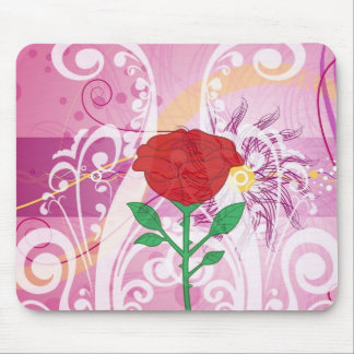 Red Roses Flower Pictures Design Mouse Pad