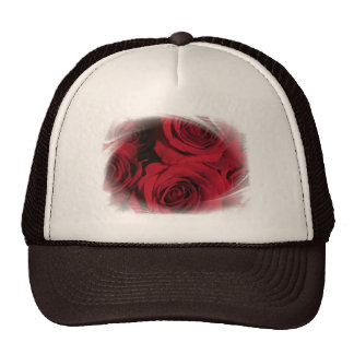 Red Roses flowers nature floral photo white framed Trucker Hat