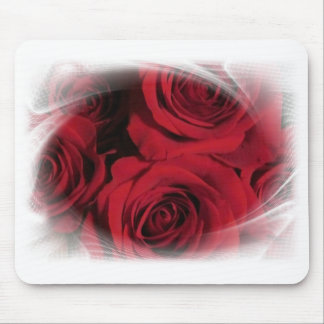 Red Roses flowers nature floral photo white framed Mouse Pad