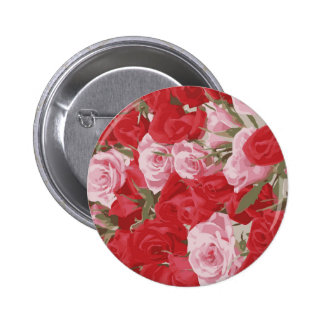Red Roses for Thalia Pinback Button