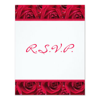 Red Roses Galore Reply Card-WILL NOT FIT SQUARE Card