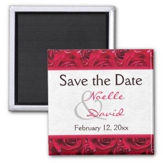 Red Roses Galore Wedding Favor Magnet magnet