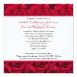 "Red Roses Galore Wedding Invitation 5.25"" Square Invitation Card"