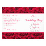 Red Roses Galore Wedding Program Flyers