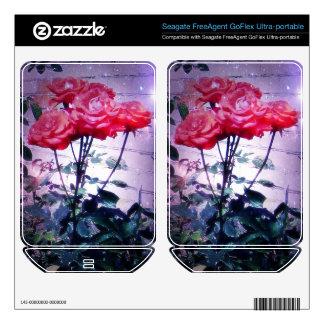 Red Roses Hard Drive Skin FreeAgent GoFlex Skins