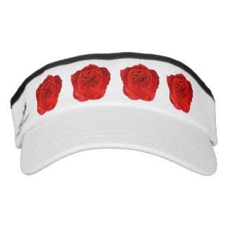 Red Roses Headsweats Visor