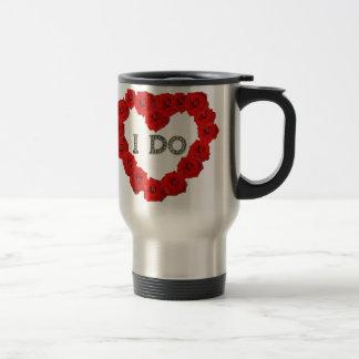 Red Roses Heart I Do Bling Coffee Tea Travel Mug