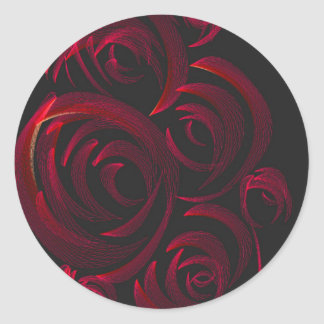 Red Roses in the Dark Classic Round Sticker