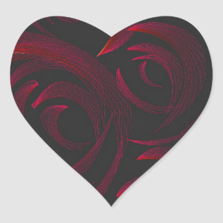 Red Roses in the Dark Heart Sticker
