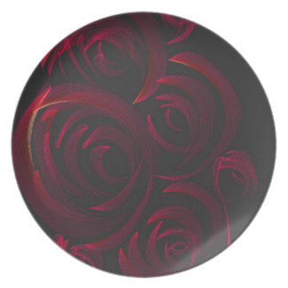 Red Roses in the Dark Party Plate