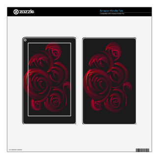 Red Roses in the Dark Decals For Kindle Fire