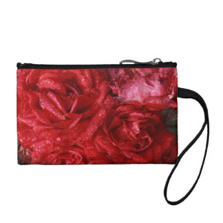 red roses in the rain coin purse