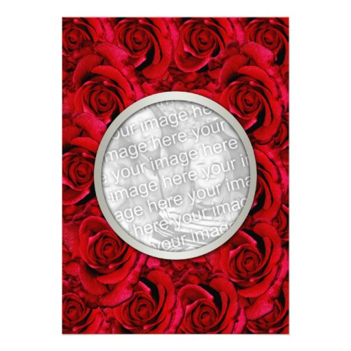 Red roses invitations template - customizable