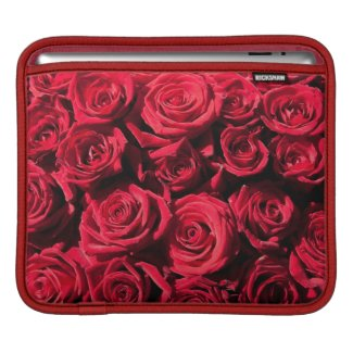 Red roses iPad sleeve