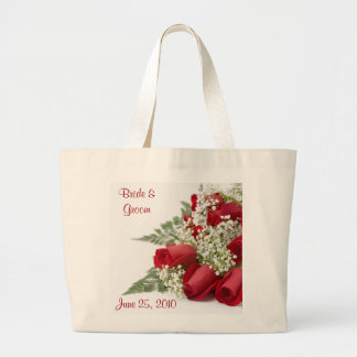 Red Roses Just Married Tote Bag