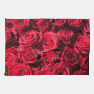 Red roses kitchen towel