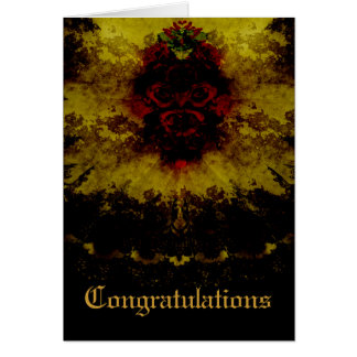 Red Roses & Lace Gothic Romance Card