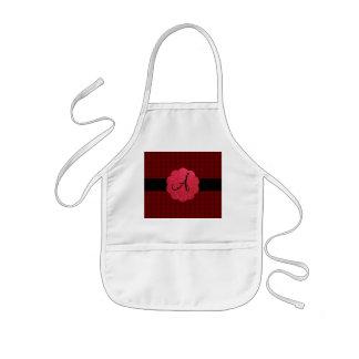 Red roses monogram aprons