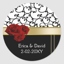 red roses Monogram label