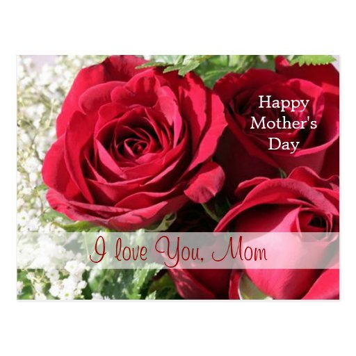 Red roses Mother's day Postcard