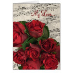Red Roses Music Valentine's Day Card