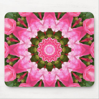 Red Roses Nature, Flower-Mandala Mouse Pad