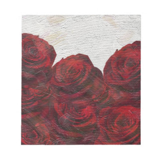 Red Roses Oil Textured Notepad