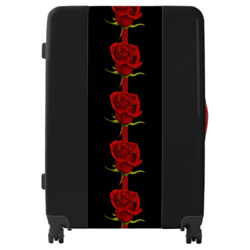 Red Roses on Black Luggage