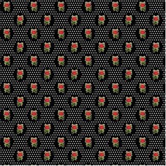 Red Roses on Polka Dots Cutout