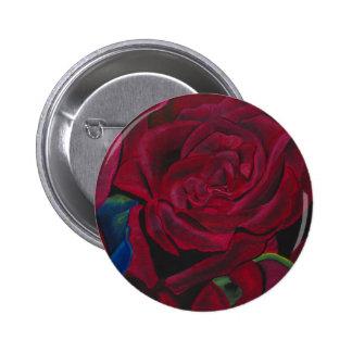 Red Roses original hand painted design Pins
