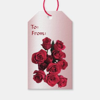 Red Roses Pack of Gift Tags