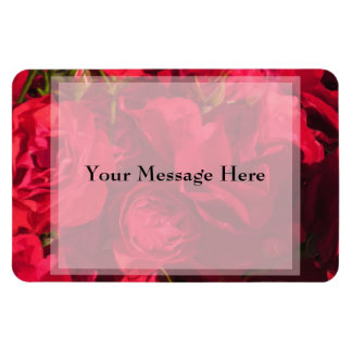 Red Roses Painting Customizable Vinyl Magnets