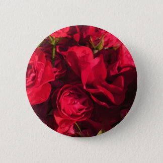 Red Roses Painting Pinback Button