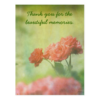 Red Roses Paper Texture Paint Splatters Lake Postcard