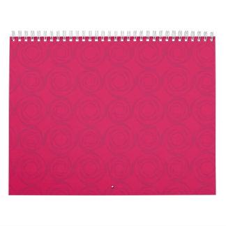 red roses pattern calendar