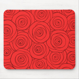 Red Roses Pattern Mouse Pad