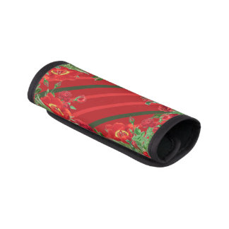 Red Roses Peony Flowers Luggage Handle Wrap
