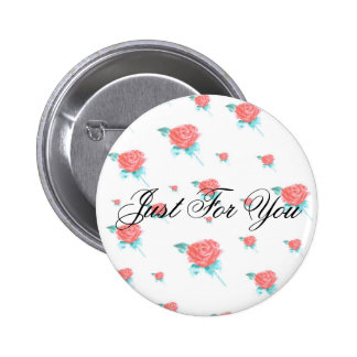 Red Roses Pinback Button