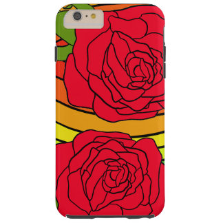 Red Roses Pop Art Trendy Summer CricketDiane Tough iPhone 6 Plus Case