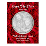 Red roses postcards template - customizable