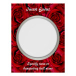 Red roses posters template - customizable