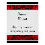 Red roses posters templates - customizable