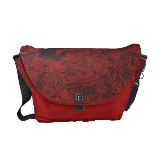 Red Roses Rickshaw Messenger Bag