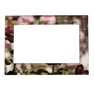 Red Roses Romantic Garden Magnetic Picture Frame