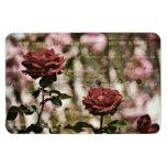 Red Roses Romantic Garden Rectangle Magnet