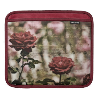 Red Roses Romantic Garden Sleeves For iPads